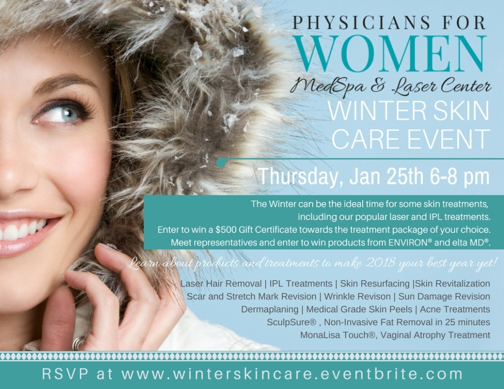 11 x 8 12 Flyer - PWG Winter Skin Care Event